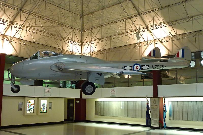 "INST193 (NZ5757) de Havilland DH-100 Vampire FB.5 ""Royal New Zealand Air Force"" c/n WA311 Wigram/NZWG 11-04-012"