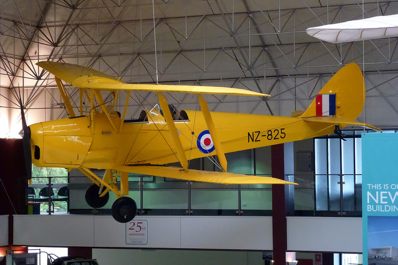 "INST150 (NZ825) de Havilland DH-82A Tiger Moth ""Royal New Zealand Air Force"" c/n DHNZ161 Wigram/NZWG 12-04-12"