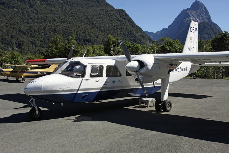 """ZK-DBV Britten-Norman BN-2A Islander """"Milford Sound Flightseeing"""" c/n 0164 Milford Sound/NZMF/MFN 20-03-12"""