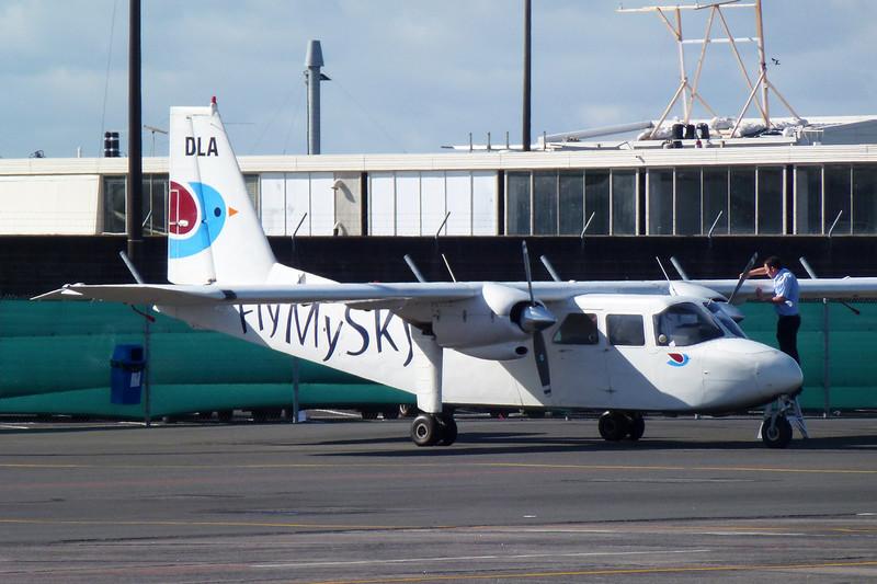 "ZK-DLA Britten-Norman BN-2 B-26 Islander ""Fly My Sky"" c/n 2131 Auckland-International/NZAA/AKL 13-04-12"