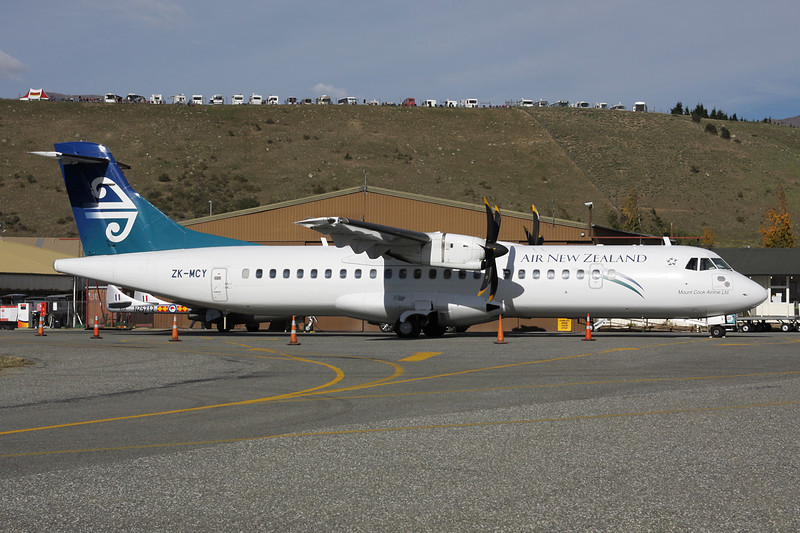 "ZK-MCY Aerospatiale ATR-72-212A ""Mount Cook Airlines"" c/n 703 Wanaka/NZWF/WKA 08-04-12 ""Air New Zealand"""