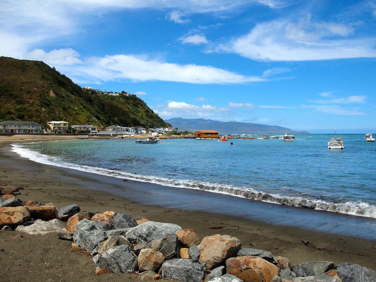 Island Bay in Wellington, New Zealand