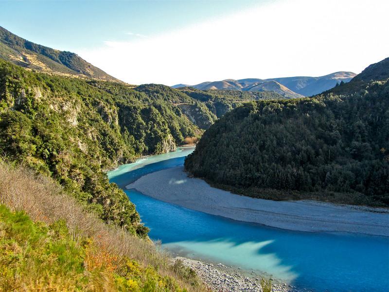Waimakariri River in New Zealand
