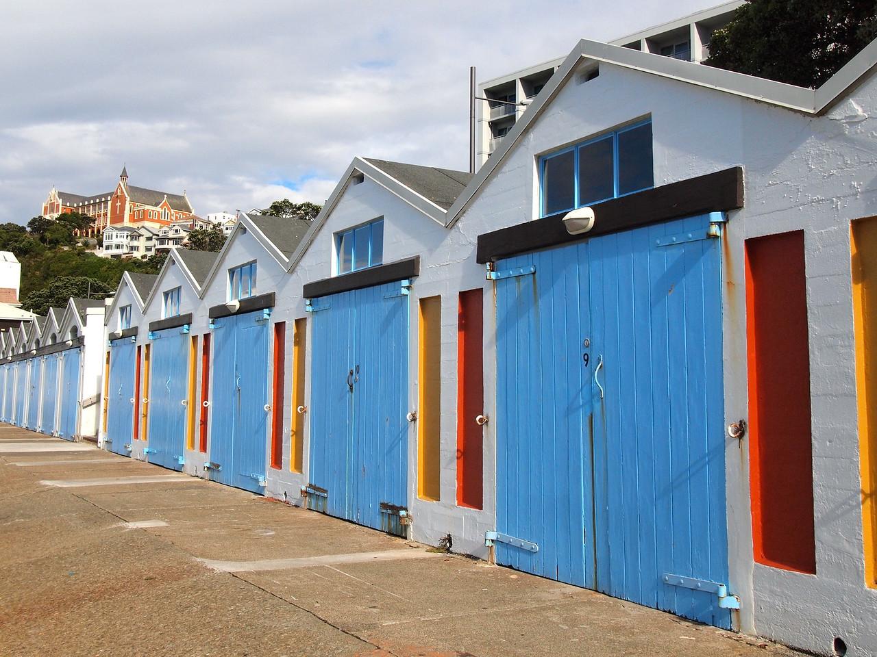 Boat houses in Wellington