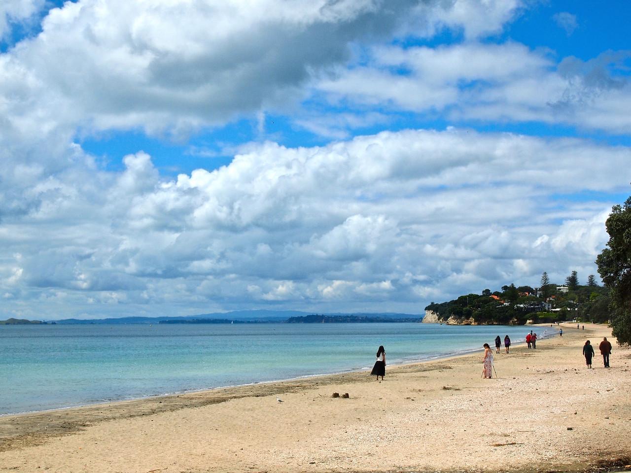 Takapuna Beach in Auckland, New Zealand