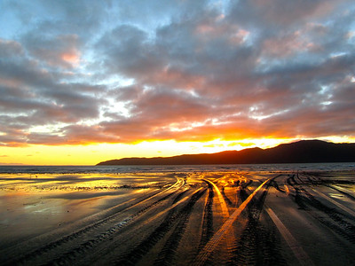 Sunset at Paraparaumu Beach in New Zealand