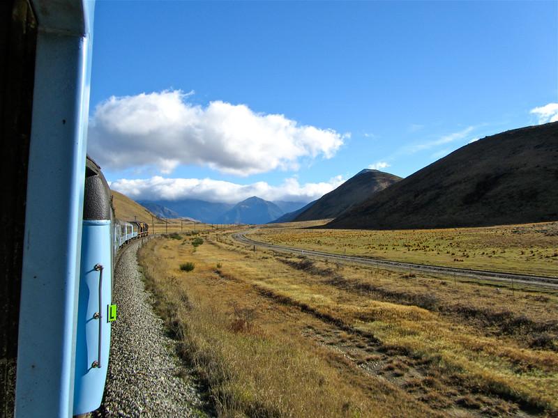 Riding the TranzAlpine Train in New Zealand
