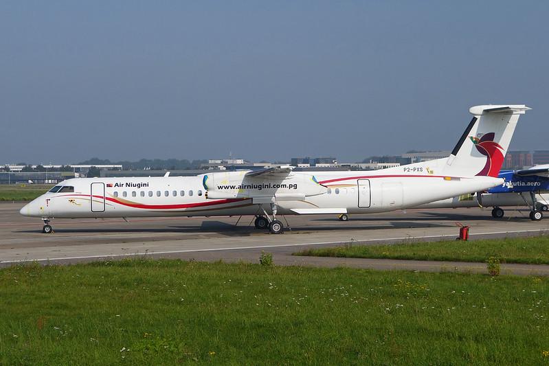 """P2-PXS de Havilland Canada DHC-8Q-402 """"Air Niugini"""" c/n 4262 Maastricht/EHBK/MST 24-09-17"""