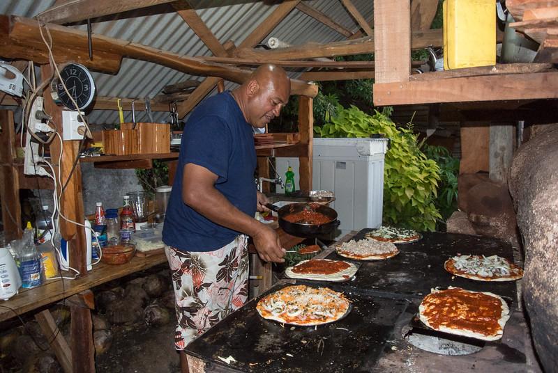 Sam, Pizza Making - Eua Is., Tonga