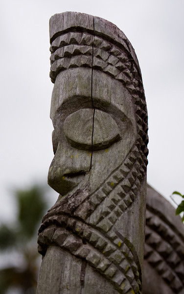 A Tam-tam (i.e. Vanuatu totem pole) in a hotel's grounds.<br /> <br /> Location: Santo island, Vanuatu<br /> <br /> Lens used: 70-200mm f2.8 IS