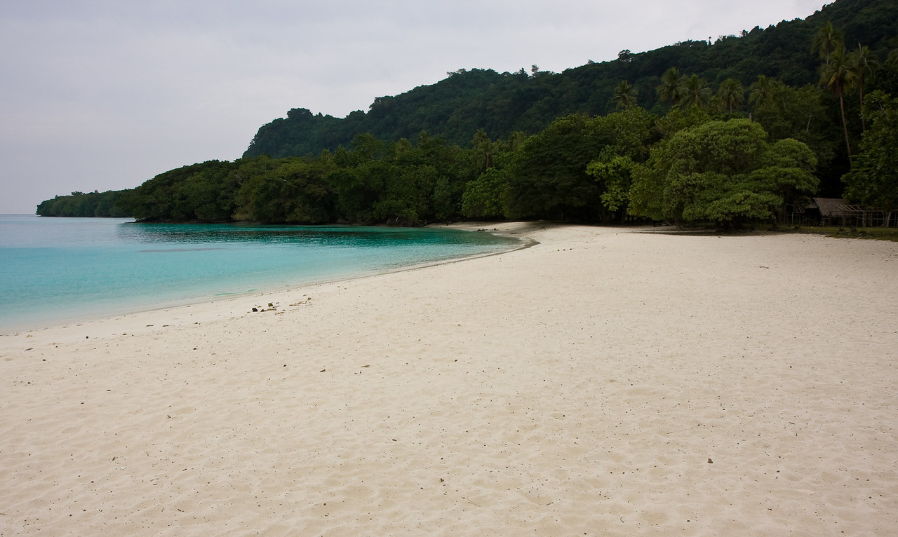 Champagne beach on an overcast day.<br /> <br /> Location: Santo island, Vanuatu<br /> <br /> Lens used: 17-55mm f2.8 IS
