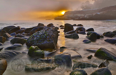 """First Light"" on La Jolla Cove CA"