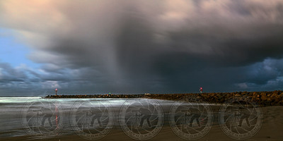 Storm at Oceanside Jetty