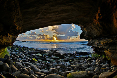 Last Light from the Cave. La Jolla, CA