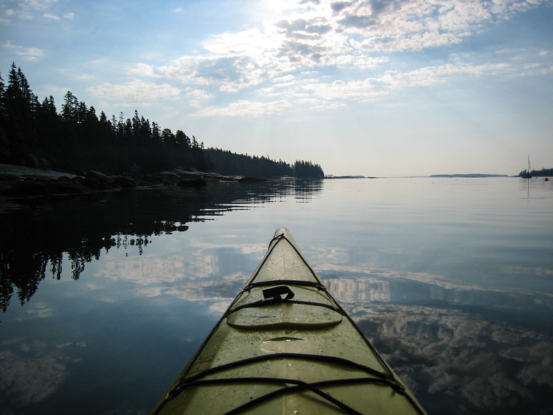 Sea Kayaking on a calm early morning
