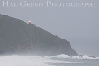 Big Sur Lighthouse during heavy rain Big Sur, California February, 2009 0902BS-BSL1