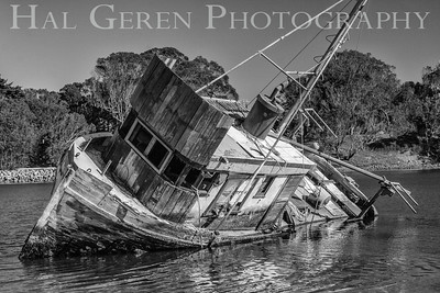 Abandoned Fishing Boat Moss Beach, California 1312BS-SS6BW1