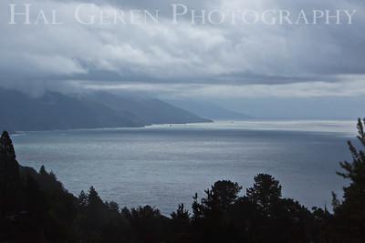 Rainy Coastline 1 Big Sur, California February, 2009 0902BS-CR1