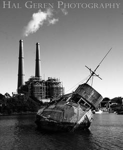 Abandoned Fishing Boat Moss Beach, California 1312BS-SB2BW1