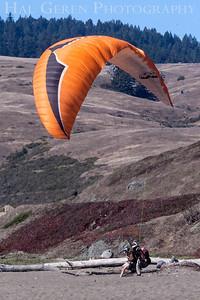 Paraglider Landing Bodega Bay, California 1207BB-P4