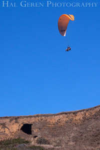 Paraglider with two Riders Bodega Bay, California 1207BB-P2
