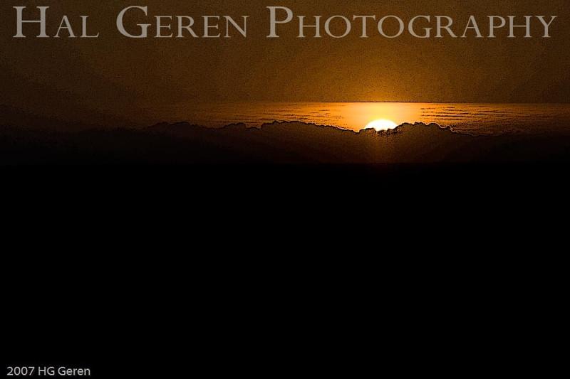 Sunset 1 E1<br /> Point Reyes, California<br /> December, 2007