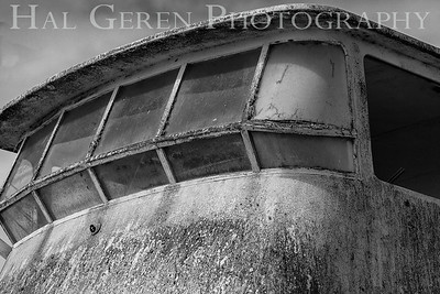 Rust Boat Bridge Elkhorn Slough, Moss Landing, CA 1809E-RBB1BW1