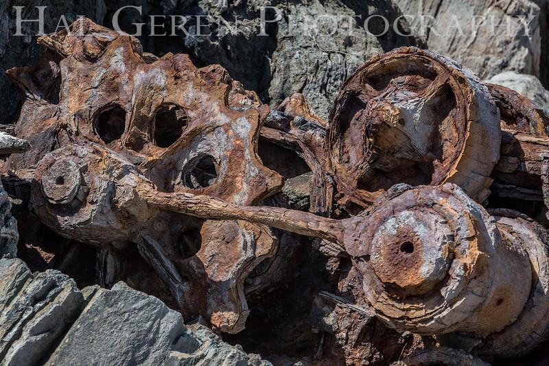 1920s Power Shovel<br /> Goat Rock, Bodega Bay, California<br /> 1606FR-PS3GE1