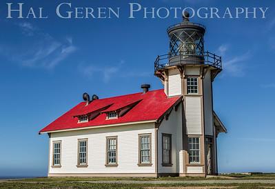 Cabrillo Point Lighthouse Mendocino, CA 1501C-CPL1