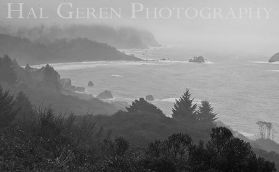 Southern Oregon Coastline on a Stormy Day 1112NC-V1BW1