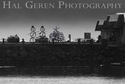 Crab Pots and Christmas Decorations Crescent City, California 1112NC-CCP1
