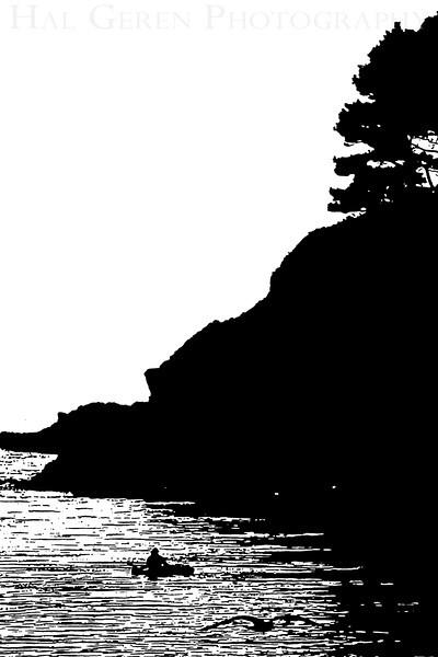 Headland with Kayak E1<br /> November, 2008<br /> 0811NC-HWKE1