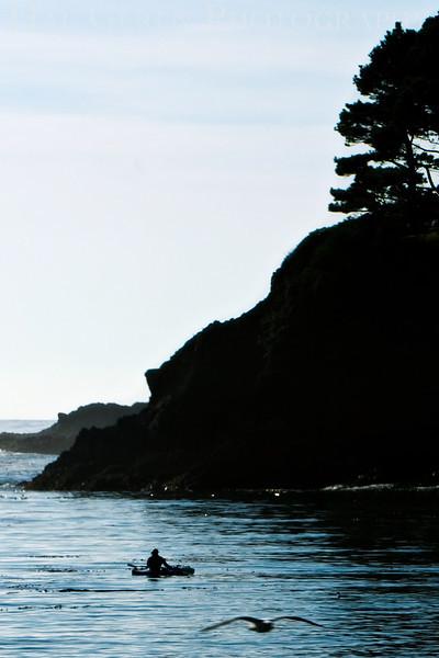 Headland with Kayak <br /> November, 2008<br /> 0811NC-H3WK