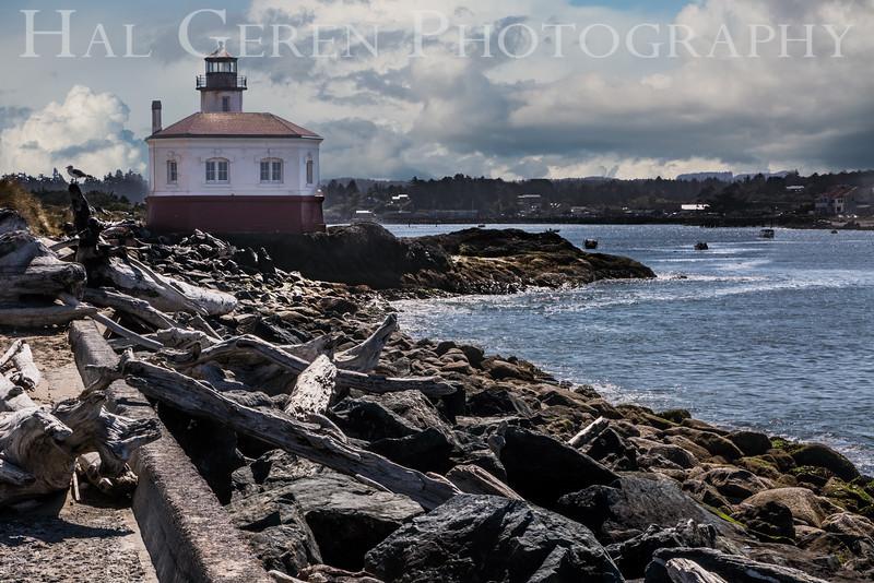 Coquille River Lighthouse<br /> Bandon, Oregon<br /> 1608O-CLH4E1