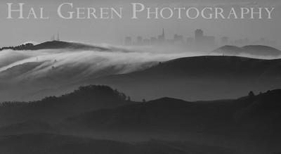 San Francisco from Mount Tamalpais Marin, California 1004PA-SFMT2BW