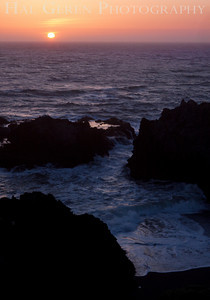 Sunset at Duncan's Landing Bodega Bay, California 1004PA-SDL2