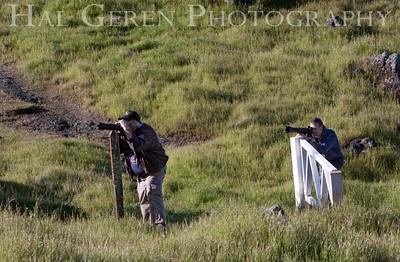Dennis Rohde and Ian Bornarth stalking a deer. Marin, California 1004PA-DAIP1