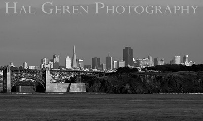 San Francisco from Point Bonita 1001S-SF1BW