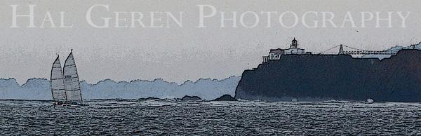Point Bonita Lighthouse Marin Headlands, California 1001S-PBL1E2