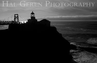 Point Bonita Lighthouse Marin Headlands, California 1001S-BPL2BW