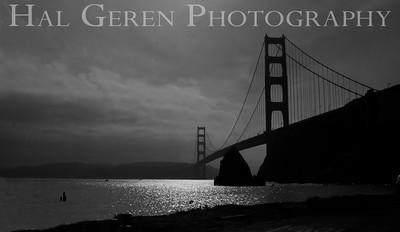 Golden Gate Bridge San Francisco, California 1001S-GG1jBW Photo by Joann Geren