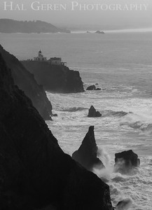 Point Bonita Lighthouse and the Golden Gate Marin Headlands, California 1001S-BPL8