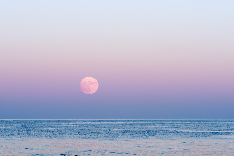 Moon Over Gulf of Maine