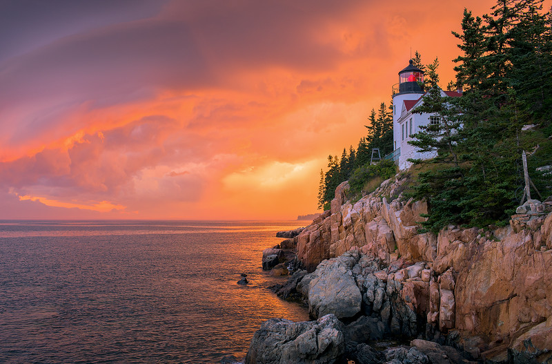Clearing Storm, Bass Harbor Light