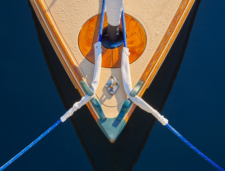 Boat Bow and Blue Lines