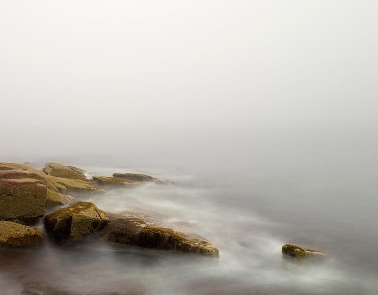 Acadia Rocks and Mist