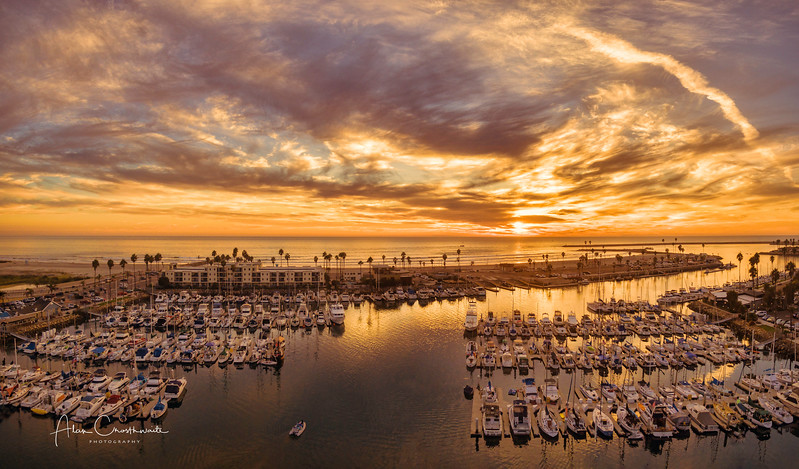 Oceanside harbor panoramic