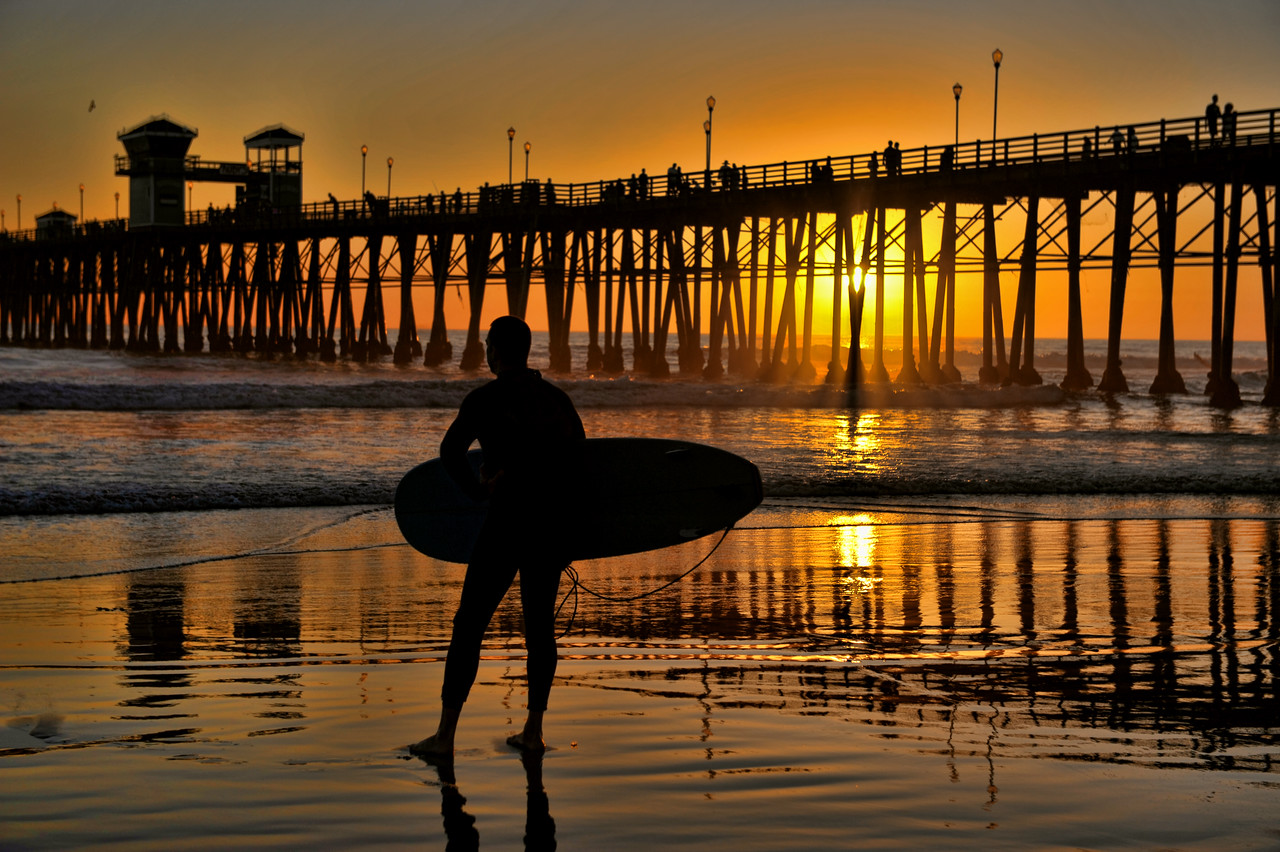 Surfer silhouetted #69