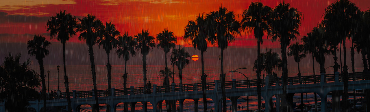 Rainy sunset at the pier #73
