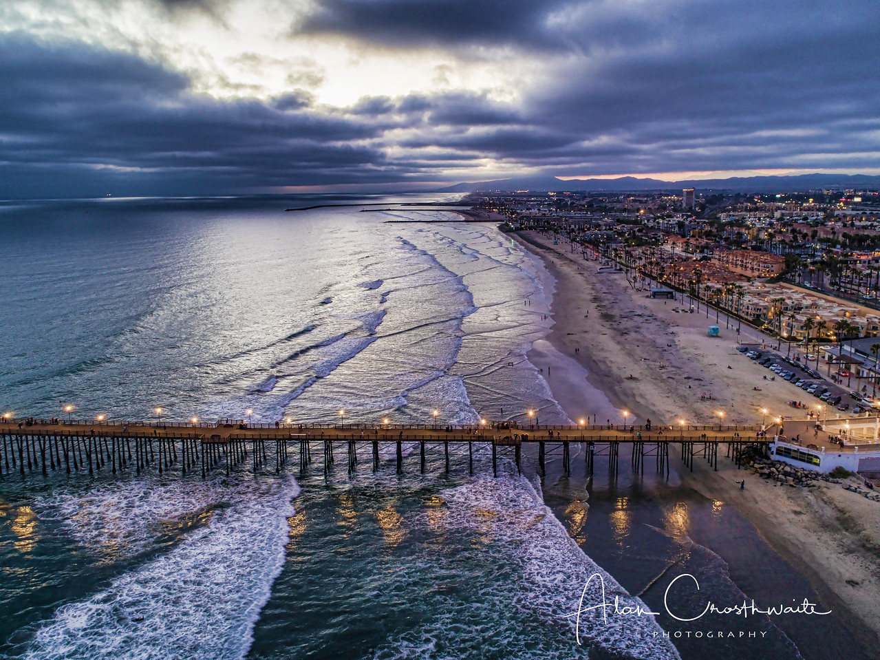 Oceanside aerial partial pier